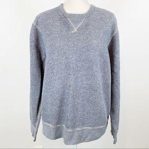 J Crew Vintage Fleece XL Marled Blue Thermal A